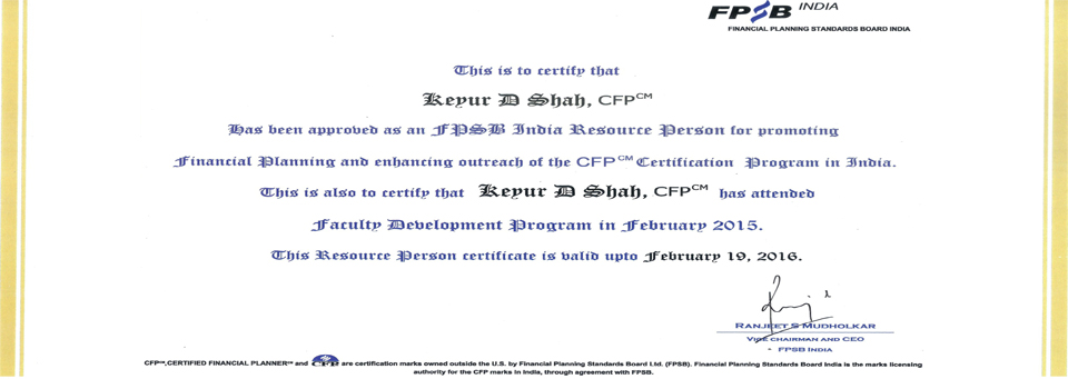 FPSB India CERTIFIED TRAINER & Resource Person (Education Partner)
