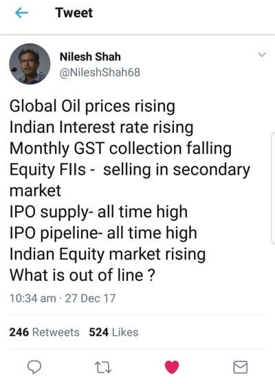 Nilesh Shah Tweet